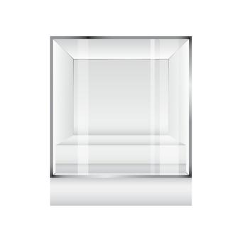 Glas showcase display in würfelform für die präsentation