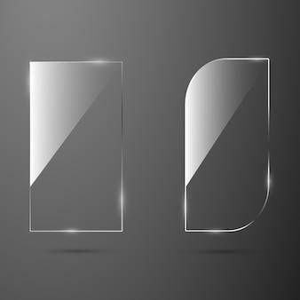 Glas textur banner für web.