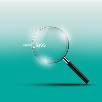 Glas vergrößern