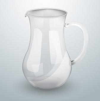 Glasdekanter für wasser oder saft.