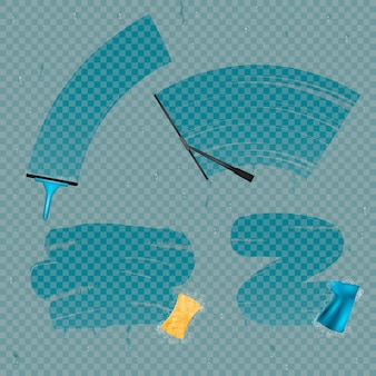 Glasflecken set abwischen