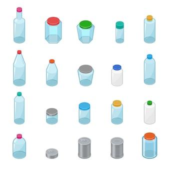 Glasglas vektor leere einmachglas mit deckel oder deckel zum einmachen und konservieren illustration