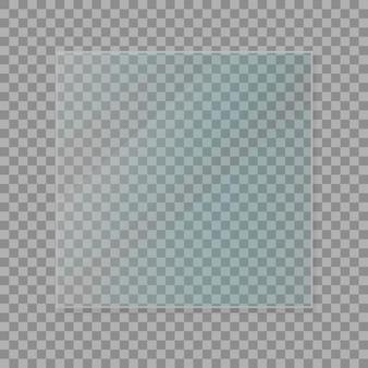 Glasplatten eingestellt. glasfahnen auf transparentem hintergrund. flaches glas. vektor-illustration