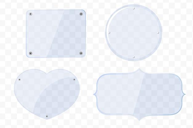 Glasplatten in verschiedenen formen