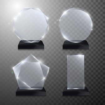 Glaspokalpreis. kristall 3d transparent
