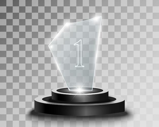 Glaspreis. statuette für den gewinner.
