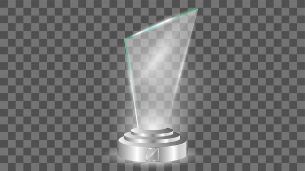 Glaspreisschablone, lokalisiert auf transparentem