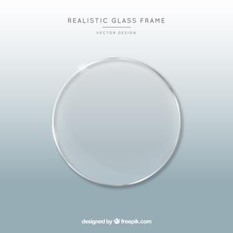 Glasrahmen im realistischen stil