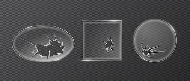 Glasscherben eingestellt