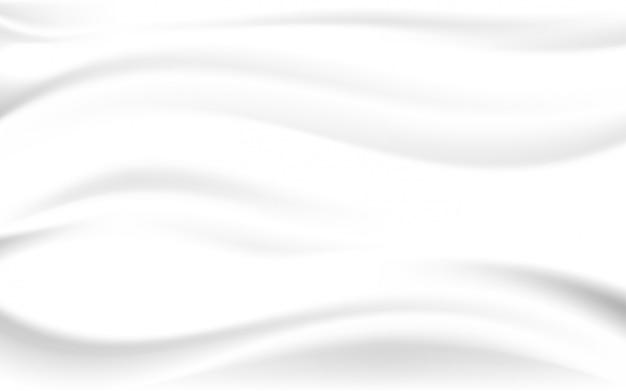 Glatte beschaffenheit des weißen seidensatinhintergrundes