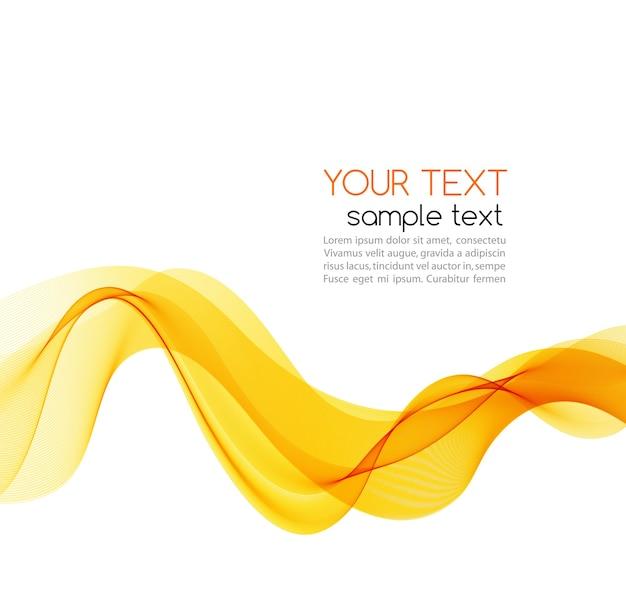 Glatte farbwelle der abstrakten bewegung. kurve orange linien