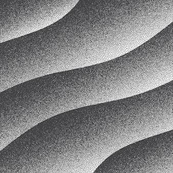 Glatte gekrümmte linien retro dotwork punktierter hintergrund