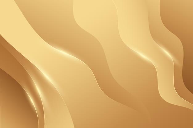 Glatte goldene wellentapete