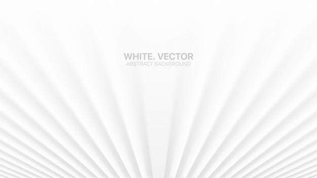 Glatte perspektivlinien weißer abstrakter hintergrund