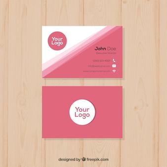 Glatte rosa visitenkartenvorlage