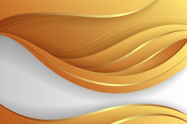 Glatter hintergrund des goldenen farbverlaufs
