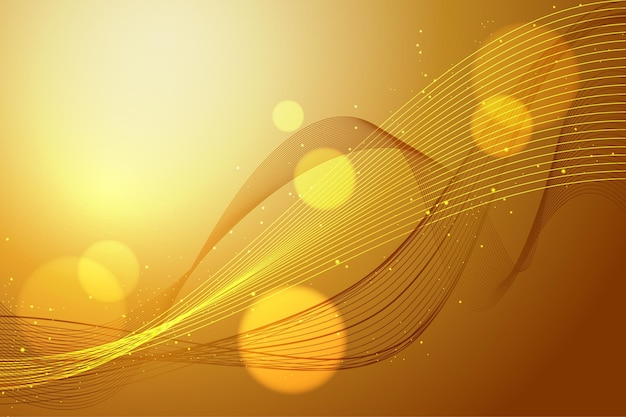 Glattes tapetenthema der goldenen welle