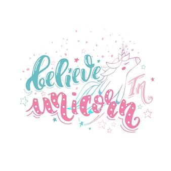 Glaube an ein einhorn
