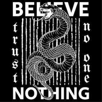 Glaube nichts