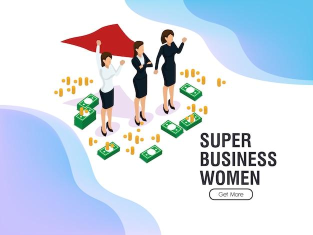 Gleichberechtigung und erfolge der super-business-frauen