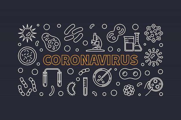 Gliederungssymbole des coronavirus-konzepts