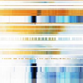Glitch abstrakter hintergrund mit verzerrungseffekt zufällige horizontale orange und blaue farblinien