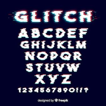 Glitch alphabet vorlage