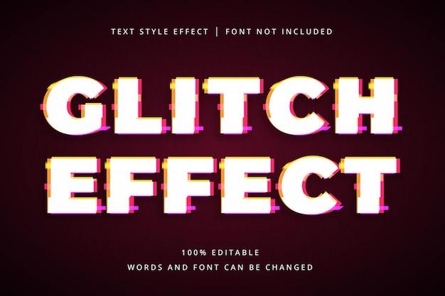 Glitch-bearbeitbarer texteffekt für ihre party-überschrift