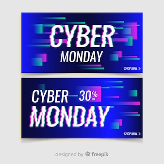 Glitch cyber montag banner