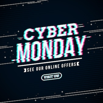 Glitch cyber montag konzept