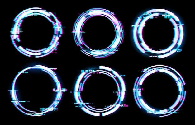Glitch digital frames illustration
