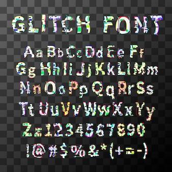 Glitch distortion schriftart
