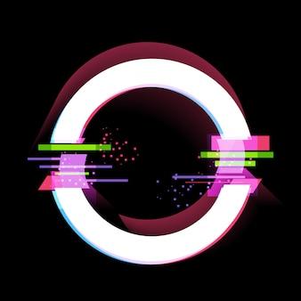 Glitch-effekt-rahmen, moderne designelemente. illustration