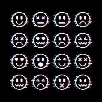 Glitch emojis sammlung