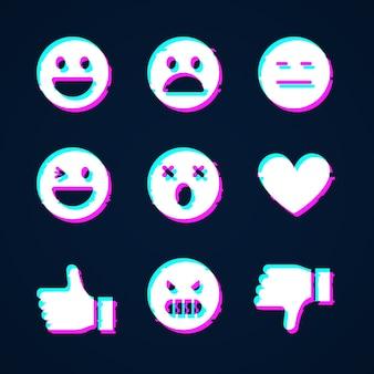 Glitch emojis sammlungen