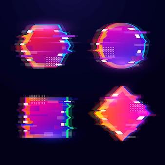 Glitch geometrische formensammlung