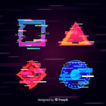 Glitch geometrische formsammlung