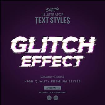 Glitch-textstil