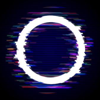 Glitched light circle frame