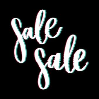 Glitched sale schriftzug