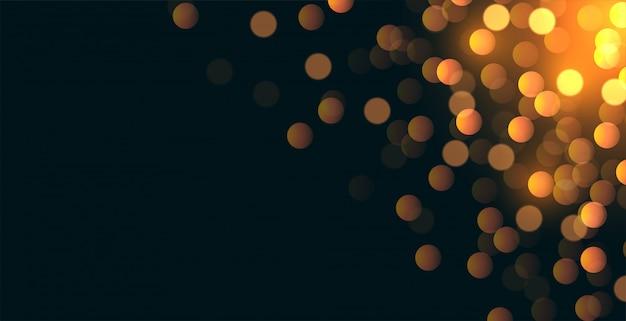 Glitterbokeh hintergrund mit textraumbereich