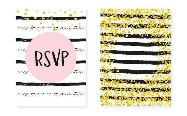 Glitzer-grenze. metallic-malerei-set. goldener feiertag kunst. rose textil. streifen-regen-karte. rosa romantischer effekt. schwarzes splatter-magazin. rosa glitzer-bordüre