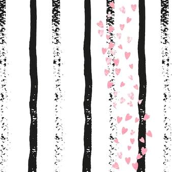 Glitzer-hintergrund. schwarzes streuteilchen. karneval kunst. weiße handgezeichnete malerei. rosa urlaubsangebot. starburst. streifen trendiges element. goldener glitzer-hintergrund