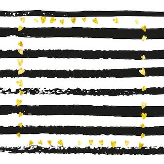 Glitzer-hintergrund. verlobung starburst. 14. februar hintergrundbild. jubiläumsbroschüre. goldenes branding-spray. schwarzer stilvoller effekt. streifen-polka-konzept. gelber glitzerhintergrund
