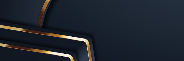 Glitzer hintergrundbeleuchtung mit abstrakten farbe banner gold