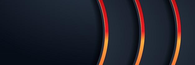 Glitzer hintergrundbeleuchtung mit abstrakten farbe banner