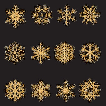 Glitzer-schneeflocken-auflistung