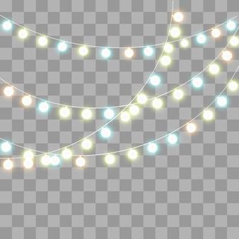 Glitzernde glühlampen