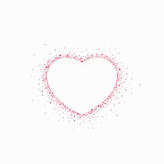Glitzernde herzform für valentinstagdesign. illustration