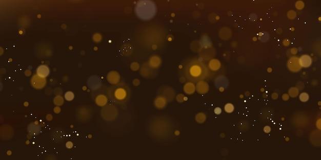 Glitzernde partikel aus feenstaub. magisches konzept. abstrakter festlicher hintergrund. weihnachtshintergrund. raumhintergrund.